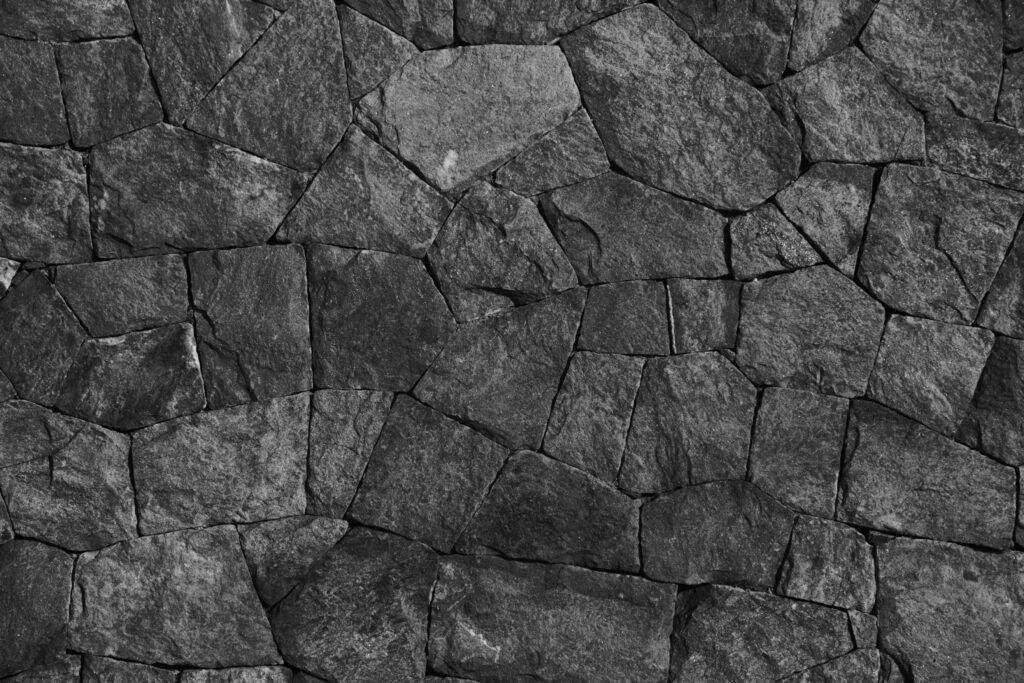 Black stacked stones